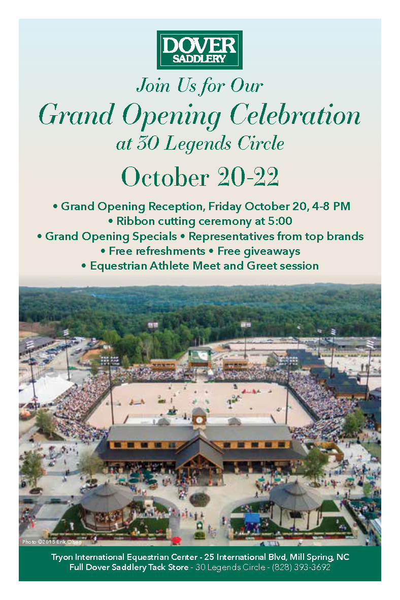 Upcoming Events   Dover Saddlery Grand Opening   Tryon Horse