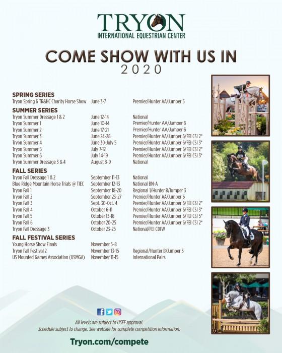 2020 Show Schedule FULL VG-2