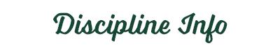 Discipline Info