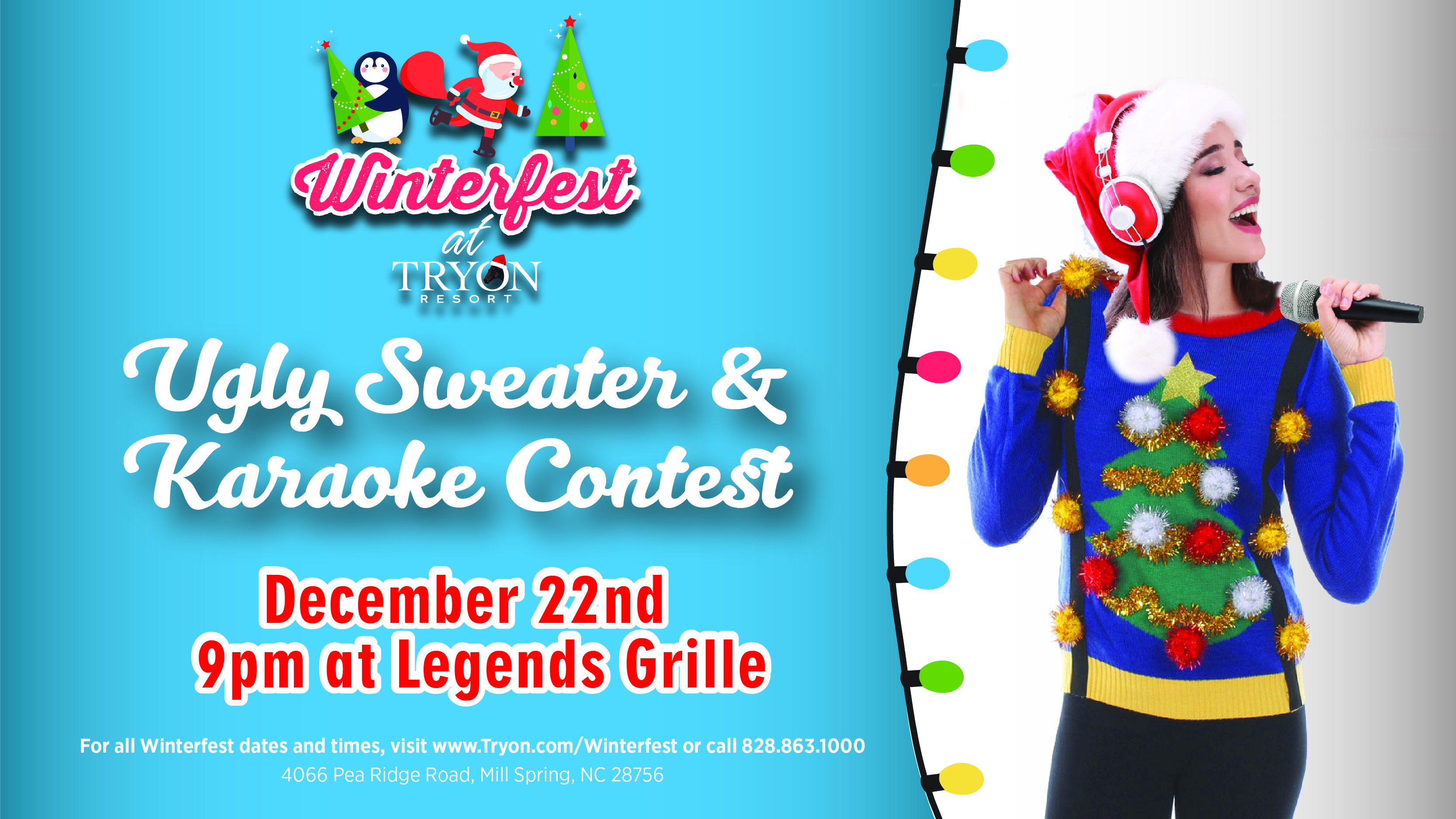 Ugly Sweater & Karaoke Contest on December 22nd!