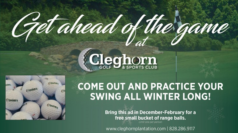 Get Ahead of the Game at Cleghorn Golf & Sports Club this Winter!