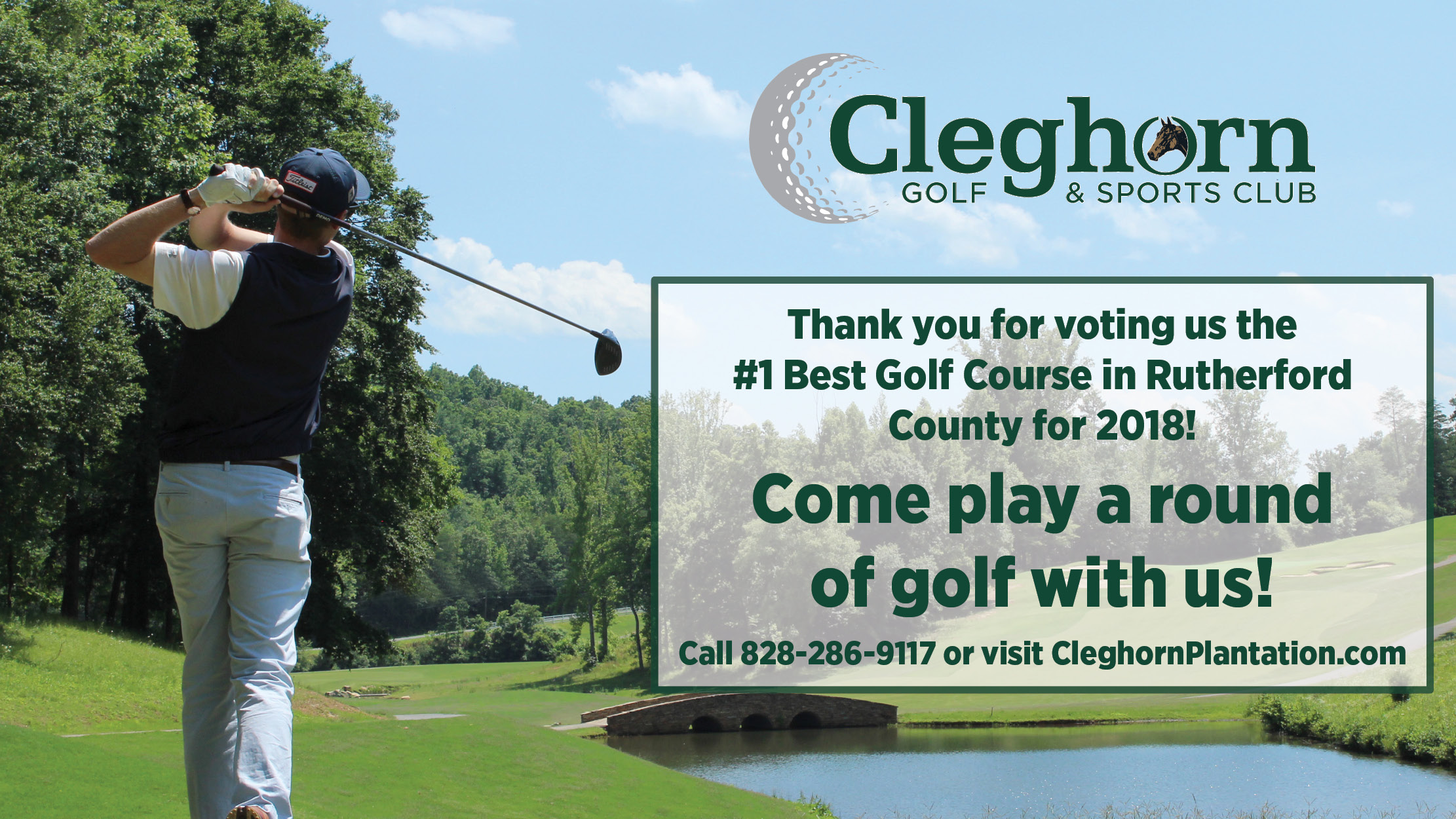 Cleghorn Golf & Sports Club Voted the #1 Best Golf Course in Rutherford County for 2018!