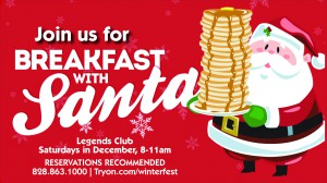 Breakfast with Santa December 7, 14, & 21!