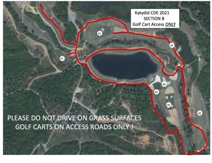 2021 Katydid golf cart map