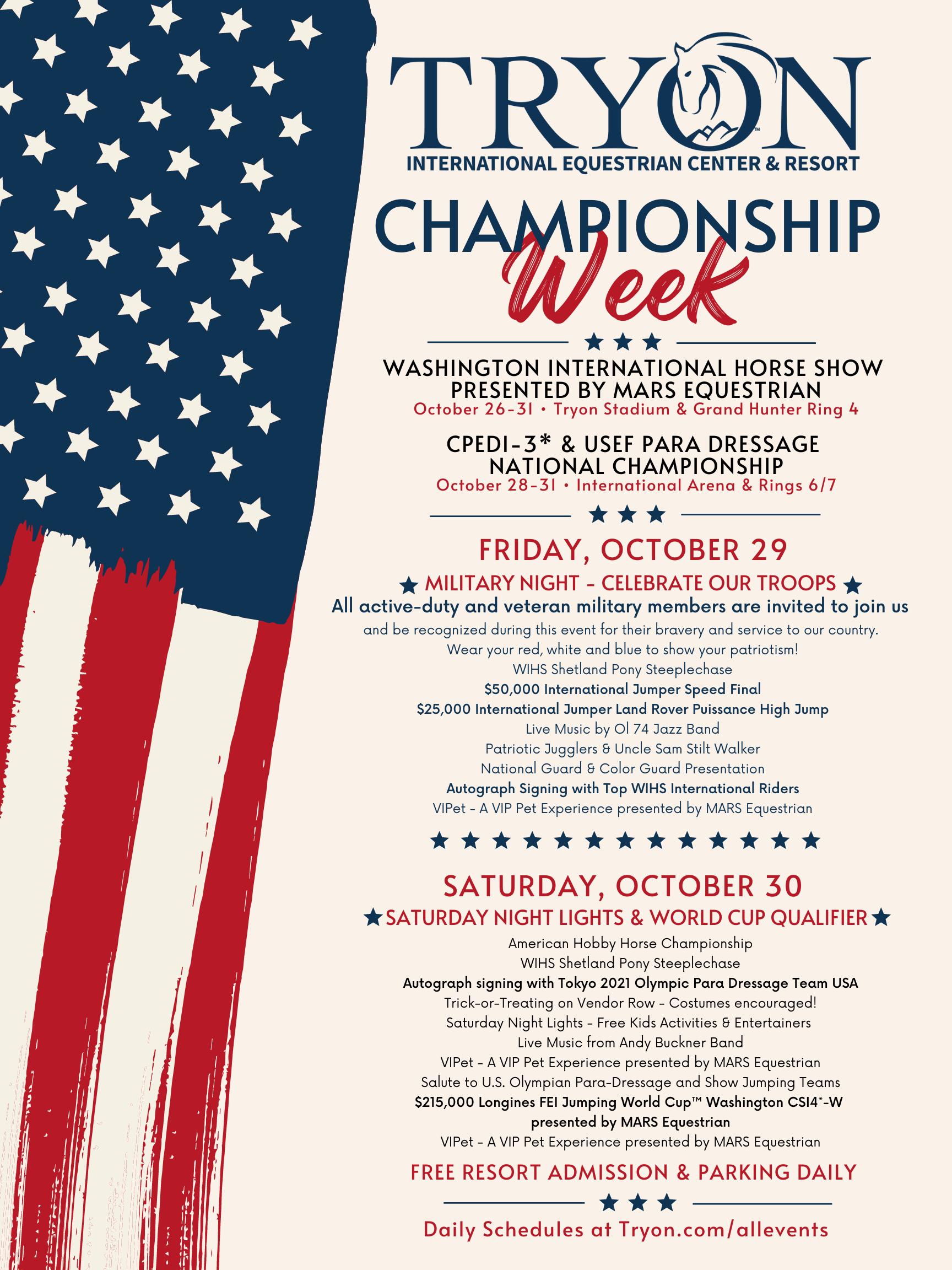 Championship Week - WIHS & Dressage