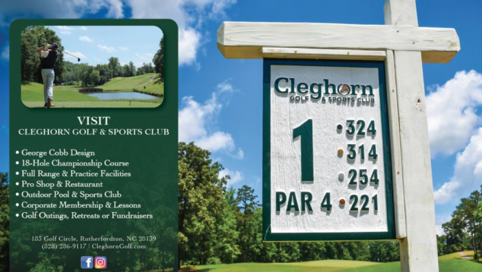Cleghorn Golf Ad