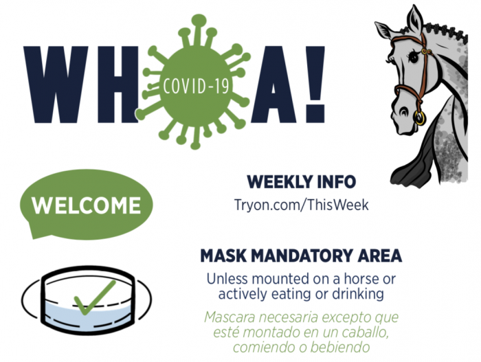 Front of House COVID web sign