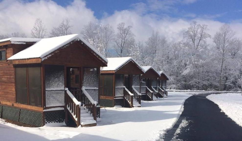 One-Bedroom Cabins in Winter