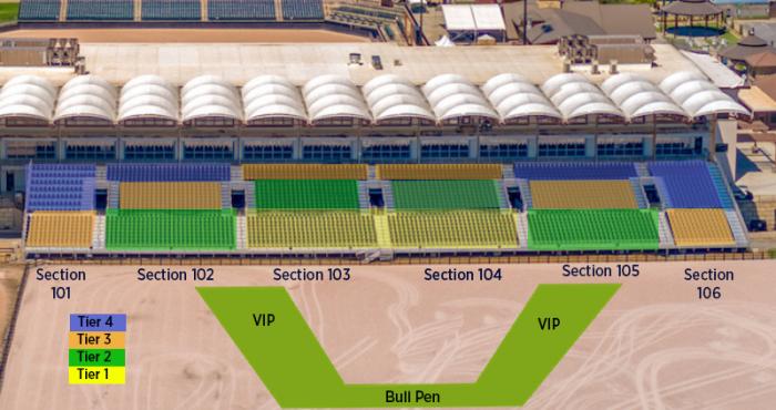 PBR Seating Chart