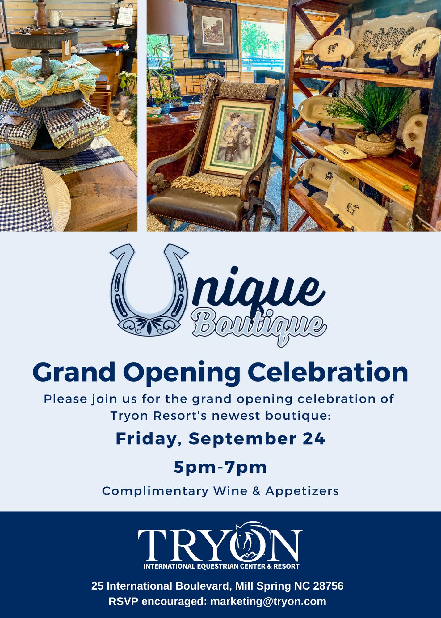 Unique Boutique Grand Opening